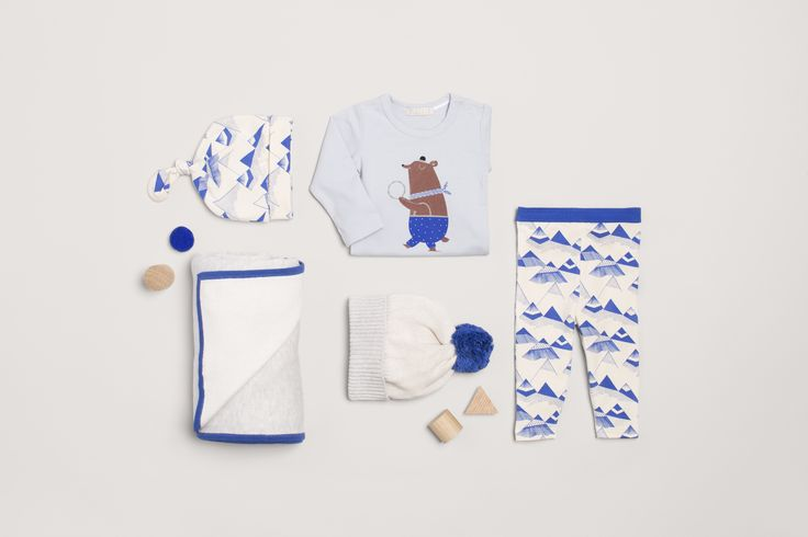 Wilson and frenchy winter collection, cute dancing bear and indigo mountains print!