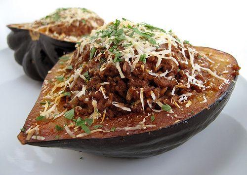 Lebanese Lamb and Bulgur Acorn Squash by The Gastronomer