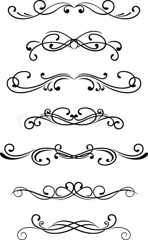 Stock Vector Of Swirl Elements And Monograms For Design