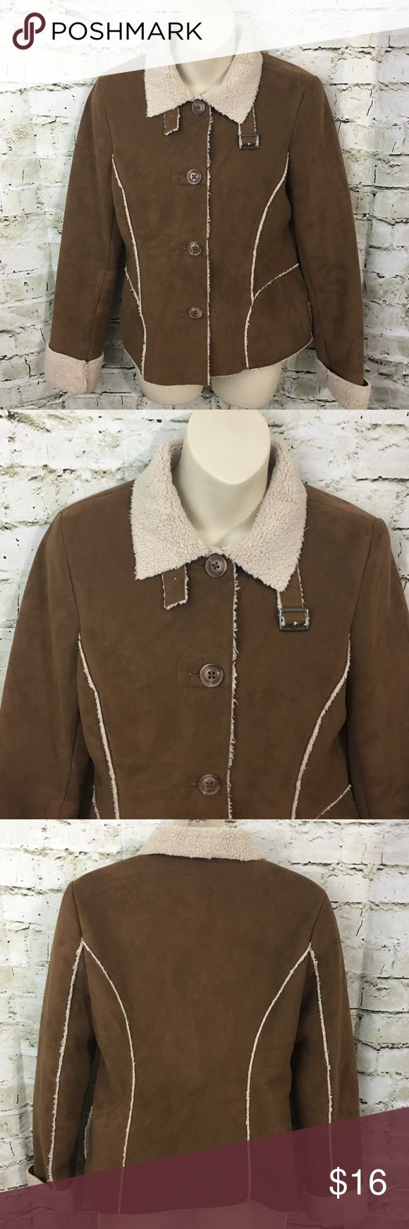"""Old Navy Fleece Lined Faux Suede Jacket Old Navy Women's Fleece Lined Faux Suede Jacket Size Small in good used condition with no flaws.  Measurements: Underarm to underarm: 18"""" Shoulder to hem: 23"""" Old Navy Jackets & Coats"""