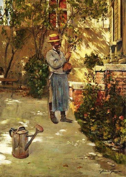 abbott fuller graves american artist 1859 1936 the gardener