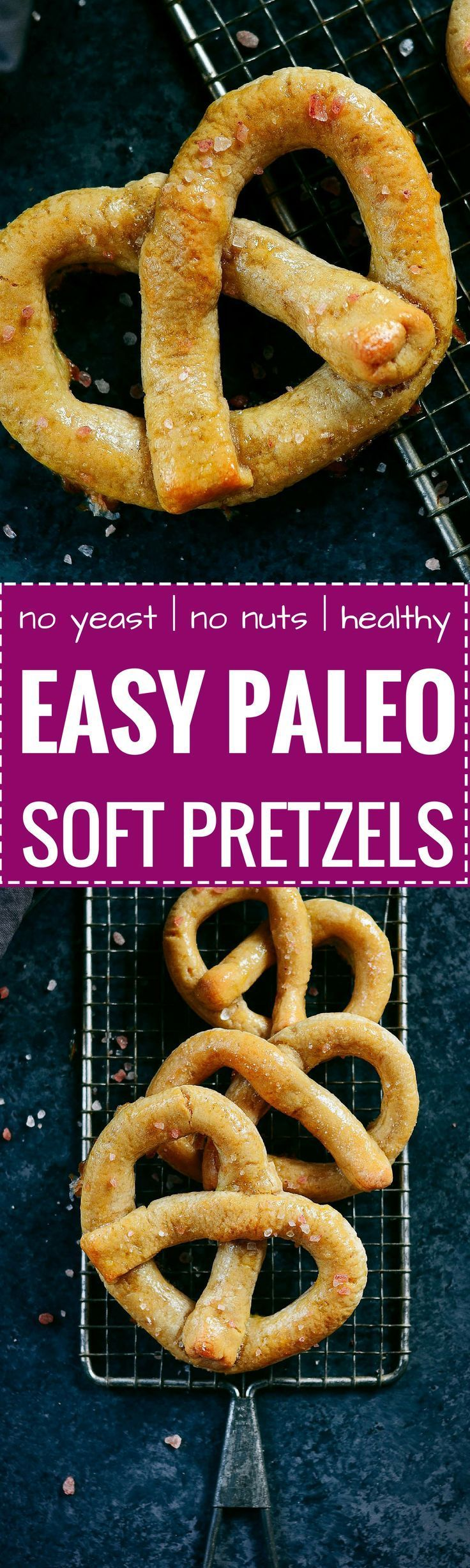 Best easy paleo soft pretzels are timeless and taste like the real deal! An easy grain free recipe for soft pretzels. Gluten free, dairy free, and no yeast!