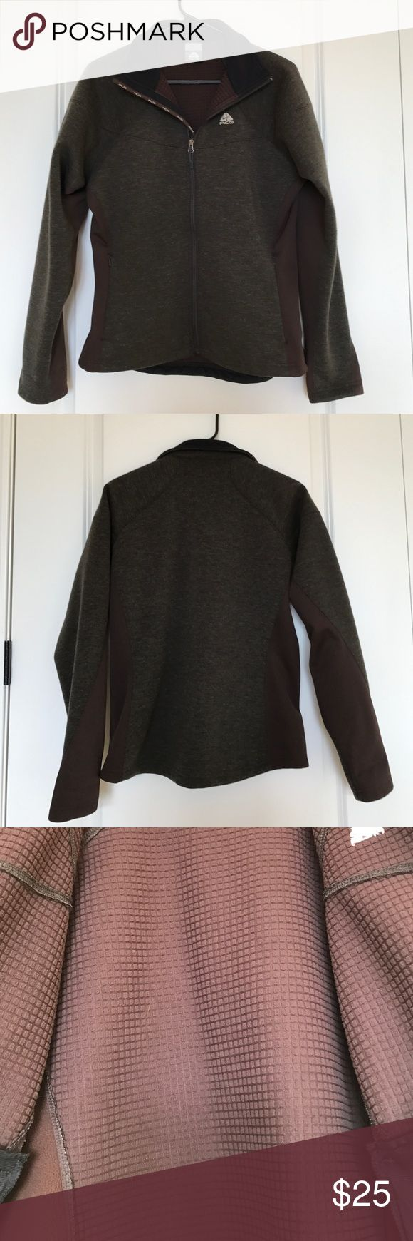 Nike ACG lightweight jacket. Lightweight Nike ACG jacket. Two-toned brown. Polyester and acrylic mix. Great casual look. Great condition. Nike Jackets & Coats