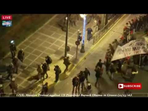 11-15-2016 MASSIVE PROTEST IN GREECE AGAINST OBAMA