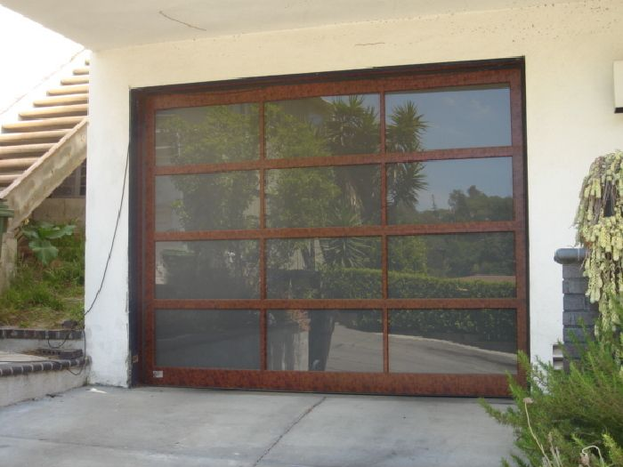 Model Bp 450 Size 8 11 X 7 Frame Wood Grained Powder Coating Walnut Glass 1 4 Lami Obscured Bronze Location Glass Garage Door Replace Door Doors