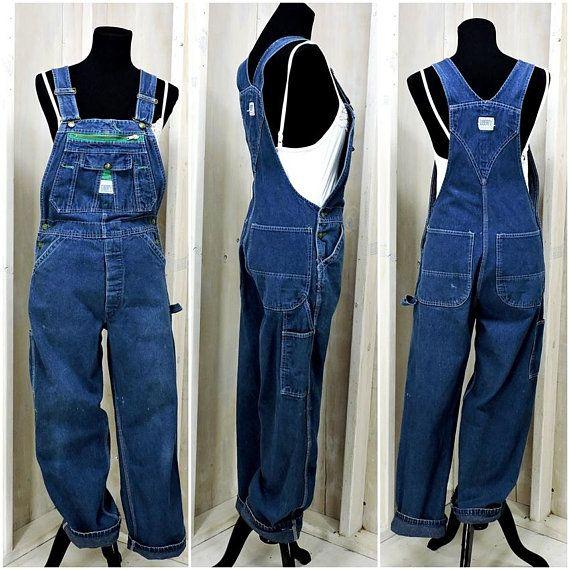 Mens Overalls Blue Jean Overalls Oversized Overalls Bib Overalls Dungarees Vintage 90s Liberty Denim Overalls