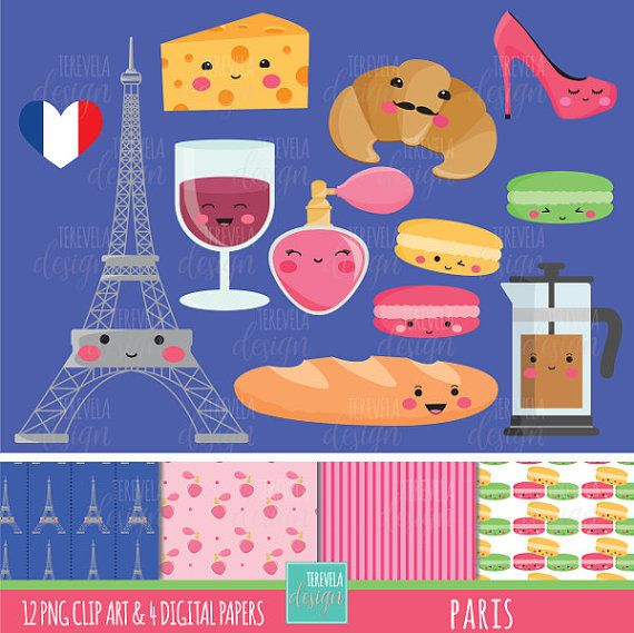 Paris Digital Clipart set includes 12 cute graphics and 4 digital paper  PERSONAL AND SMALL COMMERCIAL USE  This clip art pack is perfect for scrapbooking, paper crafts, card design, stickers, party invitations ... and much more!  DOWNLOAD INSTANT / NO SHIPPING  You will receive: ★ 1 zip containing 12 Files (12 x12 approx | 300 dpi) in PNG format with transparent background and 4 digital paper (12 x12 | 300 dpi)   The file can be downloaded immediately after your payment is confirmed. T...