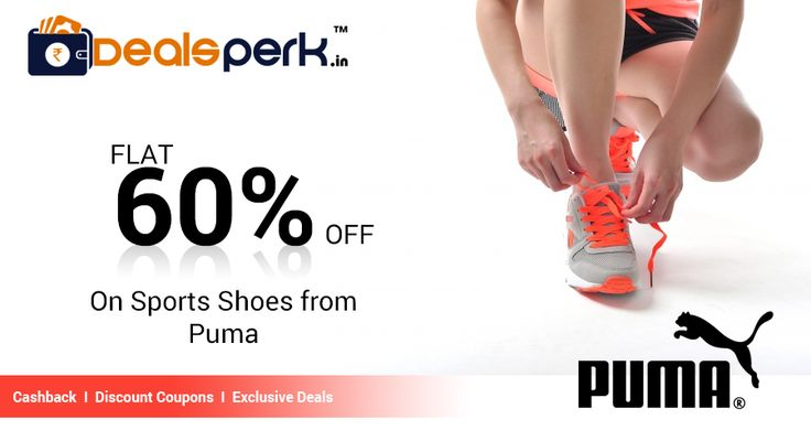 Puma presenting Upto 60% OFF on Sports Shoes. Various branded products like #Action #Adidas #Asics #Fila #Flat #Heels #Nike #Puma #Skechers #Sparx on sale
