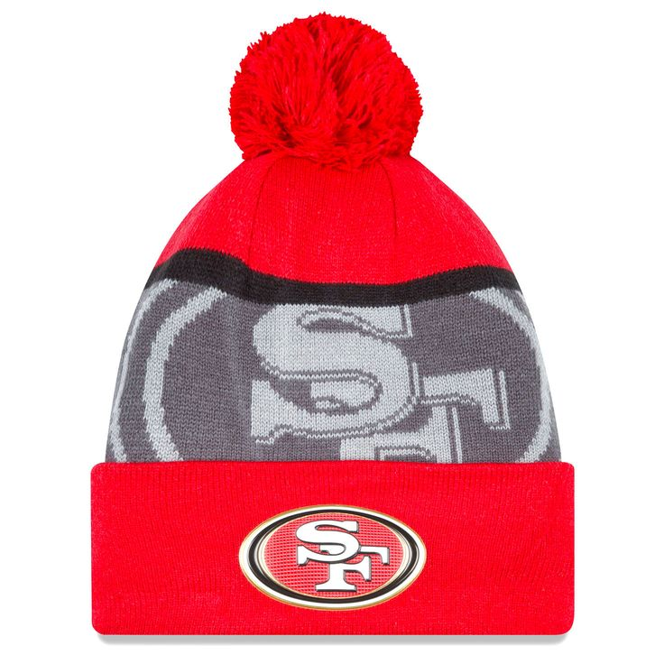 San Francisco 49ers New Era Gold Collection Team Color Knit Hat - Scarlet/Graphite - $18.04