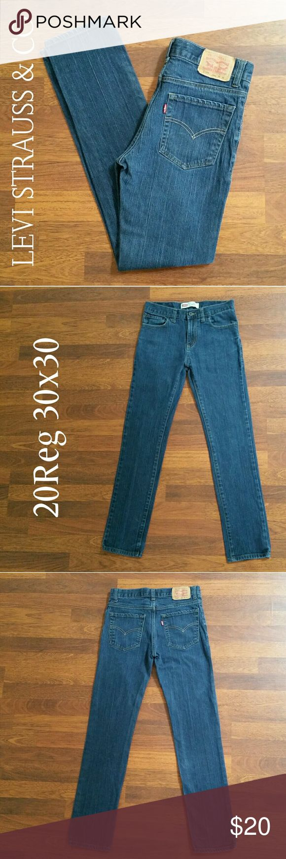 Levi's 510 Skinny 30x30 20Reg BOYS Levi Strauss & CO 510 Skinny Jeans in great condition! Nice Medium wash. These are in very like-new. No wear at all to the bottom pant cuffs! This is a great find!  Size 20 Reg (Boys/Young Men) W30 x  L30 Levi's Bottoms Jeans