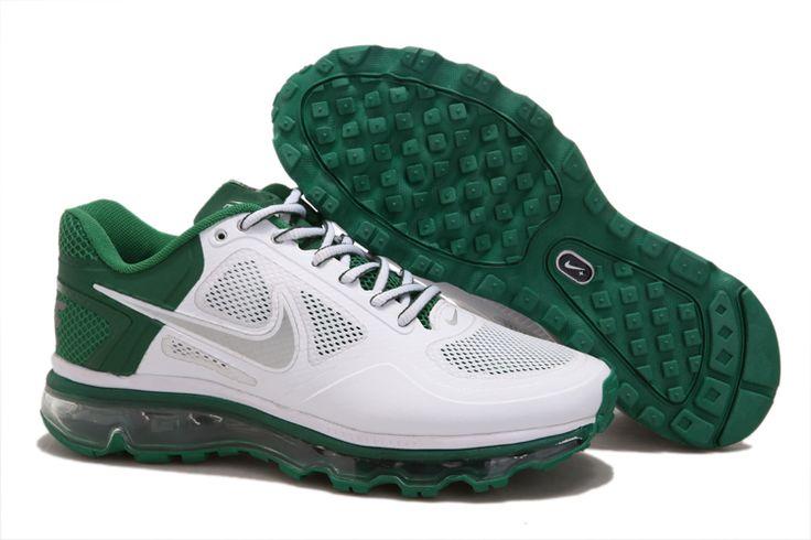 Nike Air Max 2013 Men White Green Grey-$93.88
