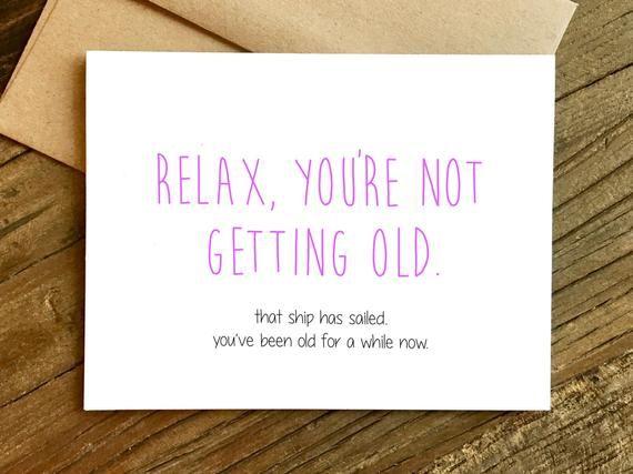 Funny Birthday Card 40th Birthday Card 30th Birthday Card Birthday Card For Friend Ship Has Sailed Birthday Card Sayings Birthday Cards For Friends Funny Birthday Cards