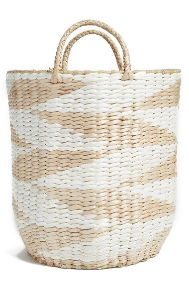 levtex diamond straw basket