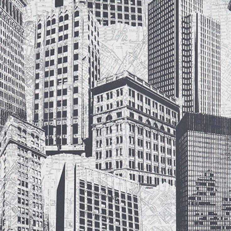 Papier peint BOSTON coloris gris argenté - Papier Peint - 4murs