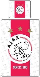 Dekbed ajax rood/wit since 1900: 140x220/60x70 cm -DINQZ