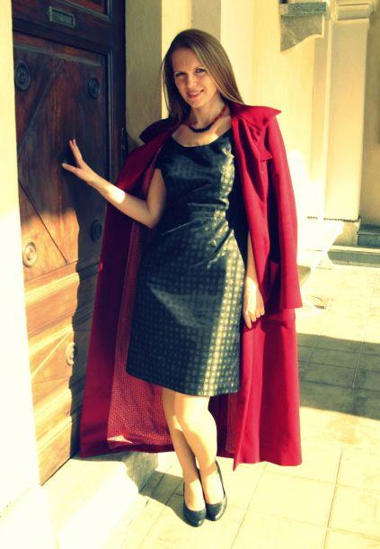 Crocodile print dress from D&G