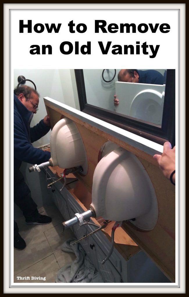 Best 25 old vanity ideas on pinterest bathroom lighting - How to remove bathroom light fixture cover ...