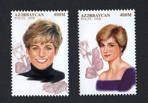 #669-670 Azerbaijan - Diana, Princess of Wales, Set of 2 (MNH)