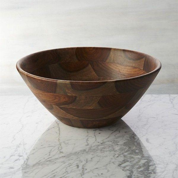 crate barrel crawford serving bowl rub liked on. Black Bedroom Furniture Sets. Home Design Ideas