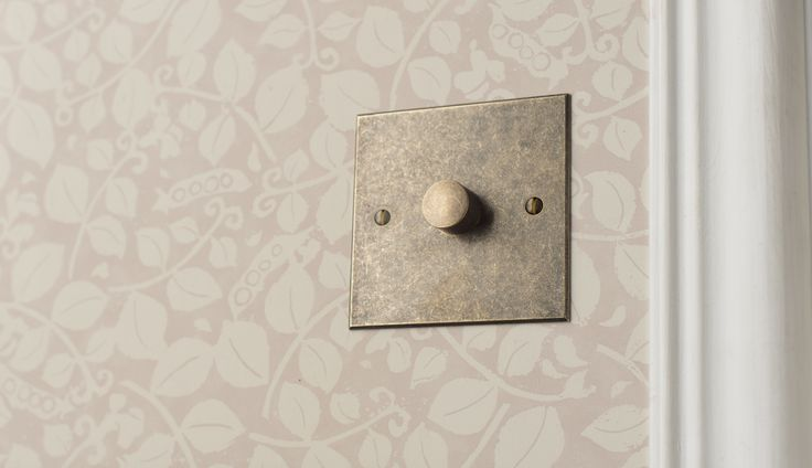 Our #antiqued #brass #dimmer #switch with a beautiful bevelled finish.