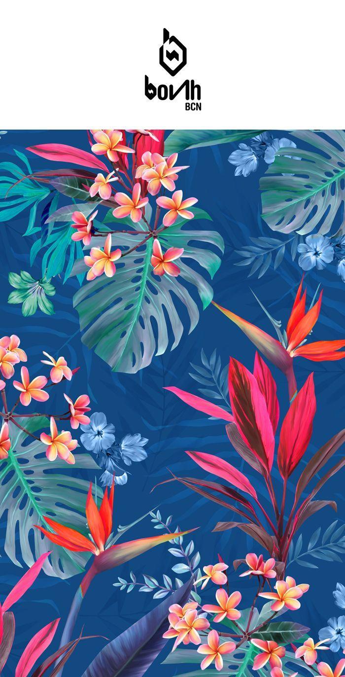 Wallpaper iphone tropical - Bonh Bcn Textil Design On Behance