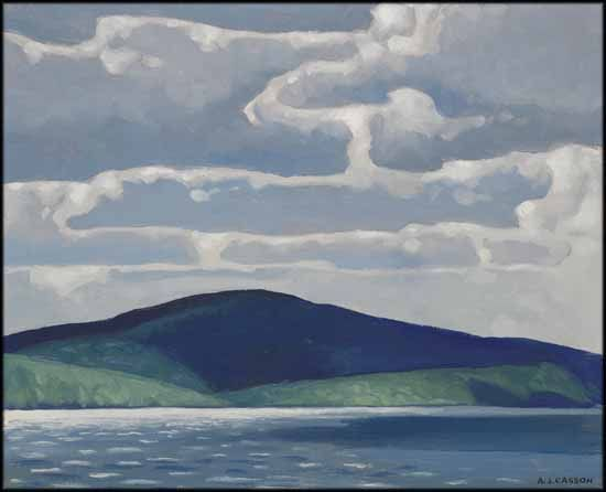"""Trout Lake,"" A.J. Casson, oil on board, 12 x 15"", private collection."