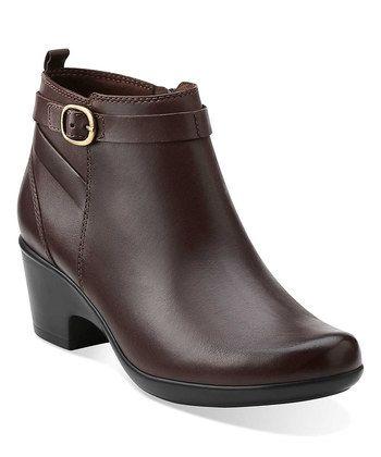 Brown Malia Hawthorn Leather Bootie