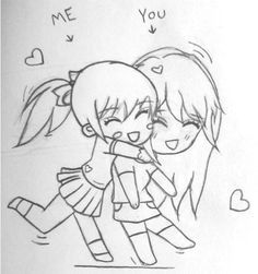 cute drawings of friendship - Google Search