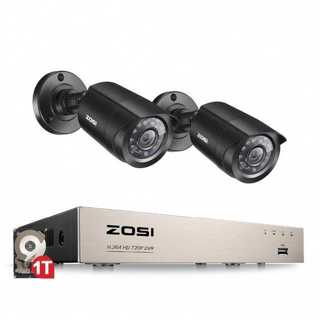 Zosi 4ch Dvr Cctv System 2ch 4ch 1 0 Mp Ir Outdoor Security Cameras 720p Hdmi Tvi Cctv Dvr 1200tvl Surve Home Security Systems Outdoor Security Camera Dvr Cctv