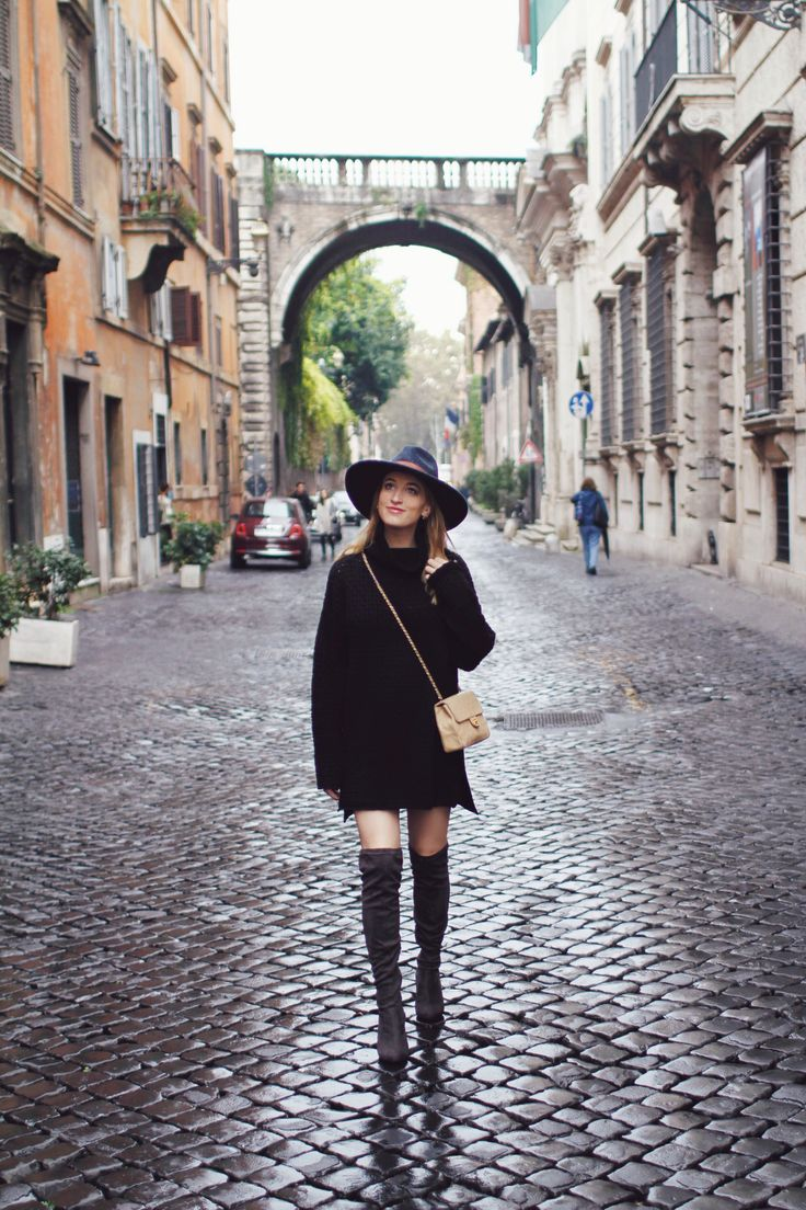 fashion blogger overknee boots rome street style | Queen of Jet Lags