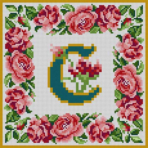 Rose Border Alphabet