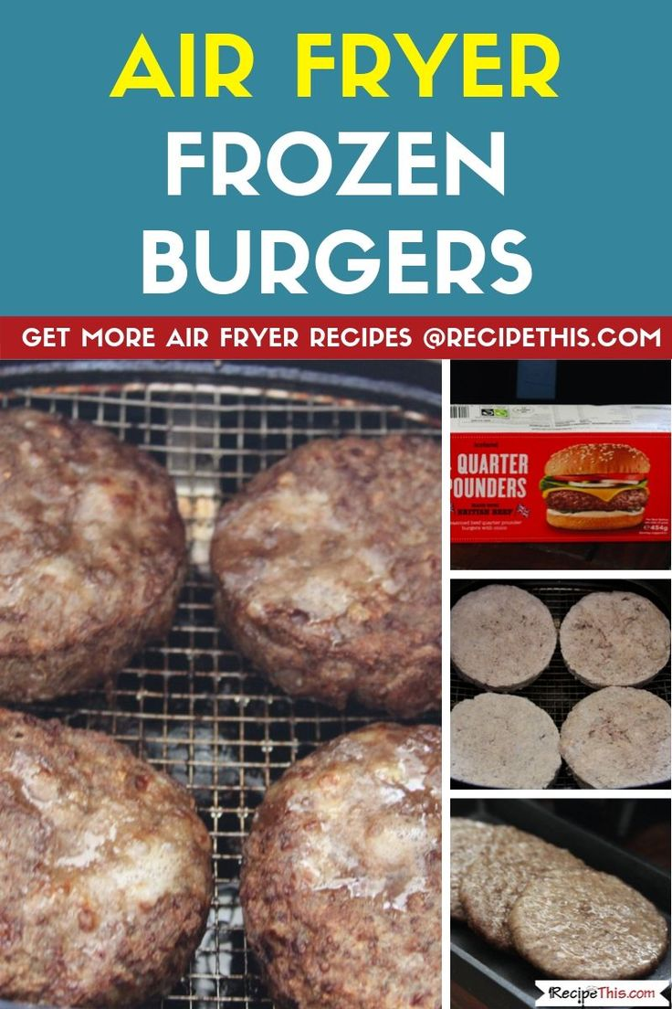 Air Fryer Frozen Burgers Recipe in 2020 Air fryer
