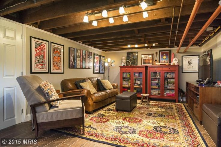 Quot Finished Quot Basement With Exposed Ceiling Cozy Basement