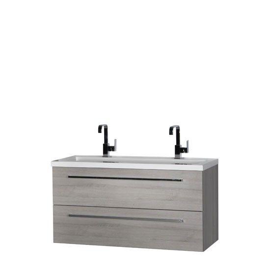 Saqu Kino meubelset 120cm met 2 lades zonder spiegel Litho grijs