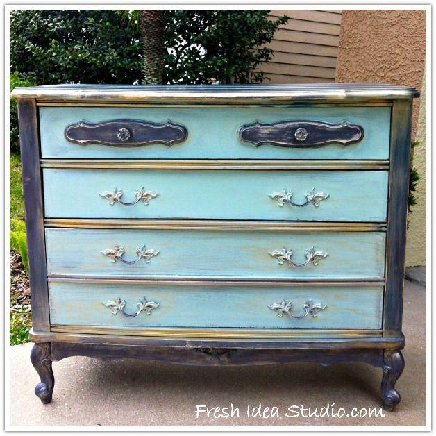 The Handsome Boy Dresser After DIY Paris Paint & Wax l Fresh Idea Studio