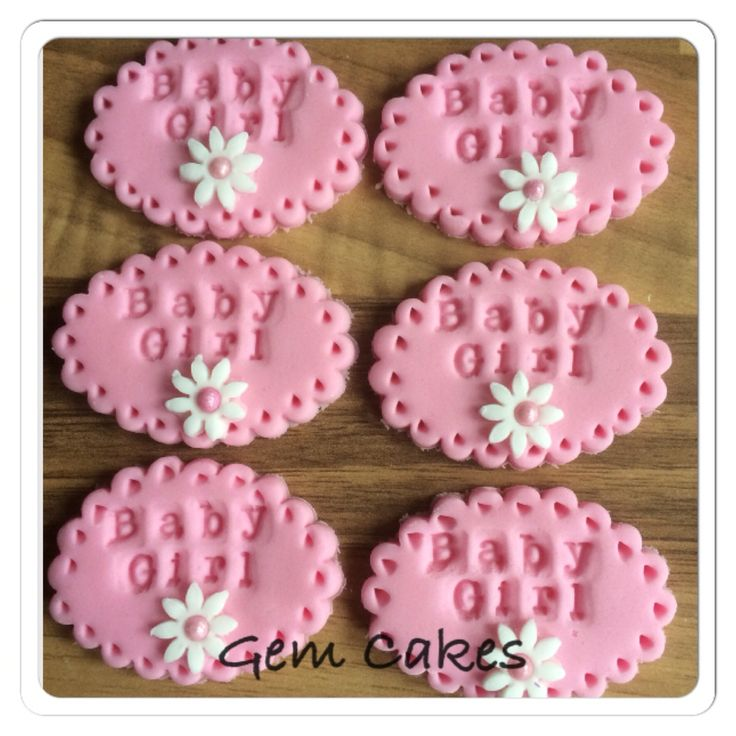 Baby Shower Cake Decorations Edible baby Shower christening Pink Baby Girl plaques cupcake toppers decorations for Girls http://stores.ebay.co.uk/Gem-Cakes-of-Liverpool