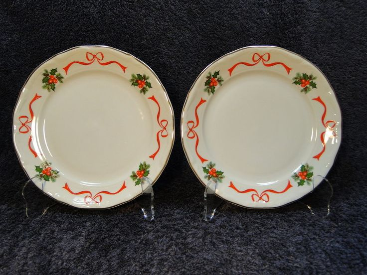 Walbrzych Holiday Ribbon Salad Plate 7 3/8\  - TWO 2 - Multi Avail MINT & 23 best Tienshan China images on Pinterest | Ceramica Cutlery and ...
