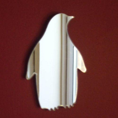 Penguin Mirror - 5 Sizes Available plus a Set of 10 Miniature Penguins on Etsy, $8.78