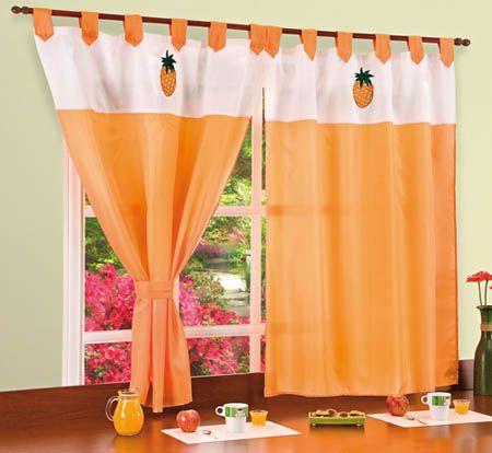 Resultado de imagen para cortinas para la cocina con frutas