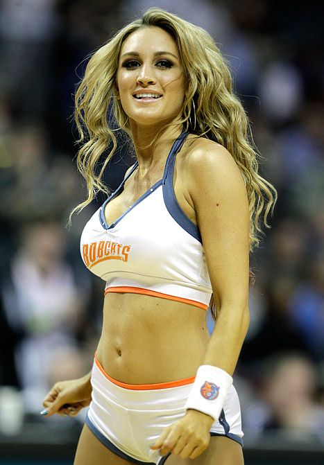 brittany kerr | Brittany Kerr performs during the second half of an NBA basketball ...