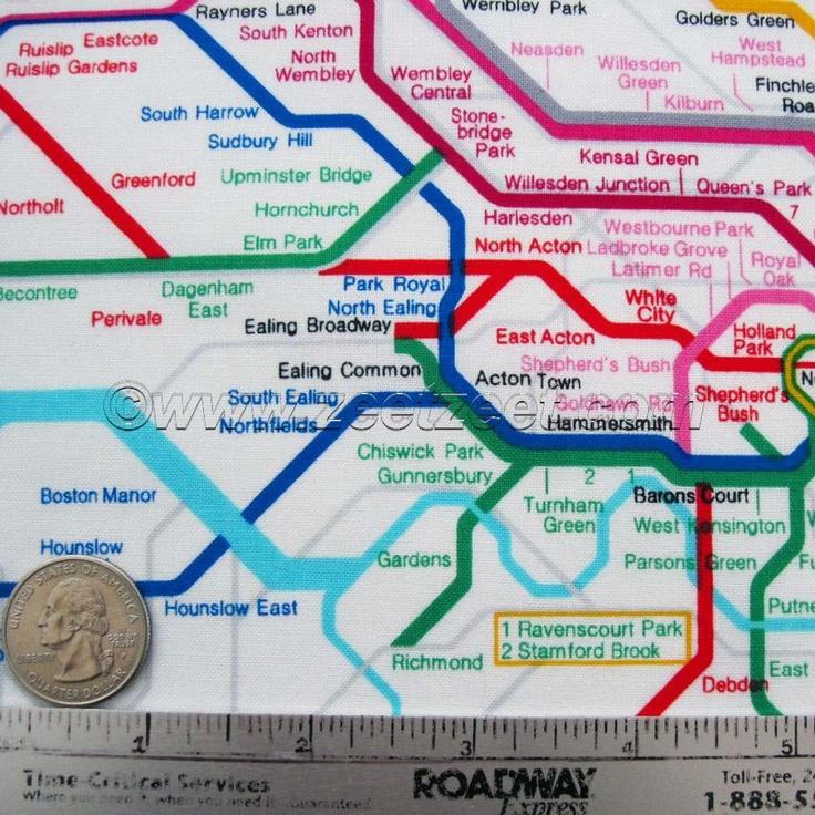 Fabric map of the London Underground