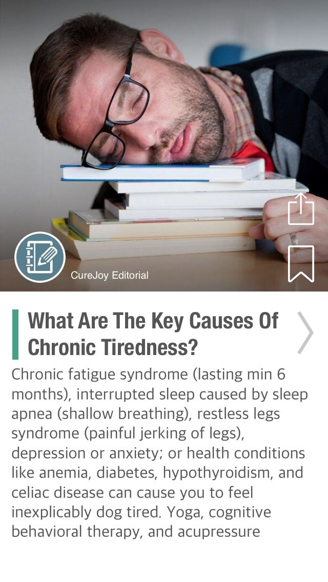 What Are The Key Causes Of Chronic Tiredness? - via @CureJoy