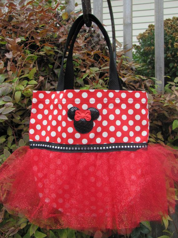 Minnie Mouse Mini Tutu Tote Bag by LollipopLaneBoutique on Etsy, $15.00