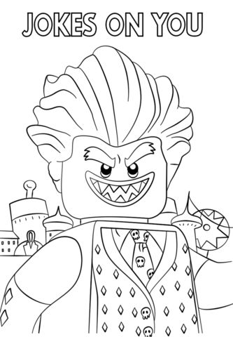 jocker from the lego batman movie coloring page from the
