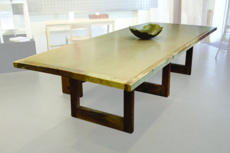 Bjarne Holt custom designed and built.  Dining table - westcoast old growth spalted maple with birdseye maple top. Custom orders welcome.