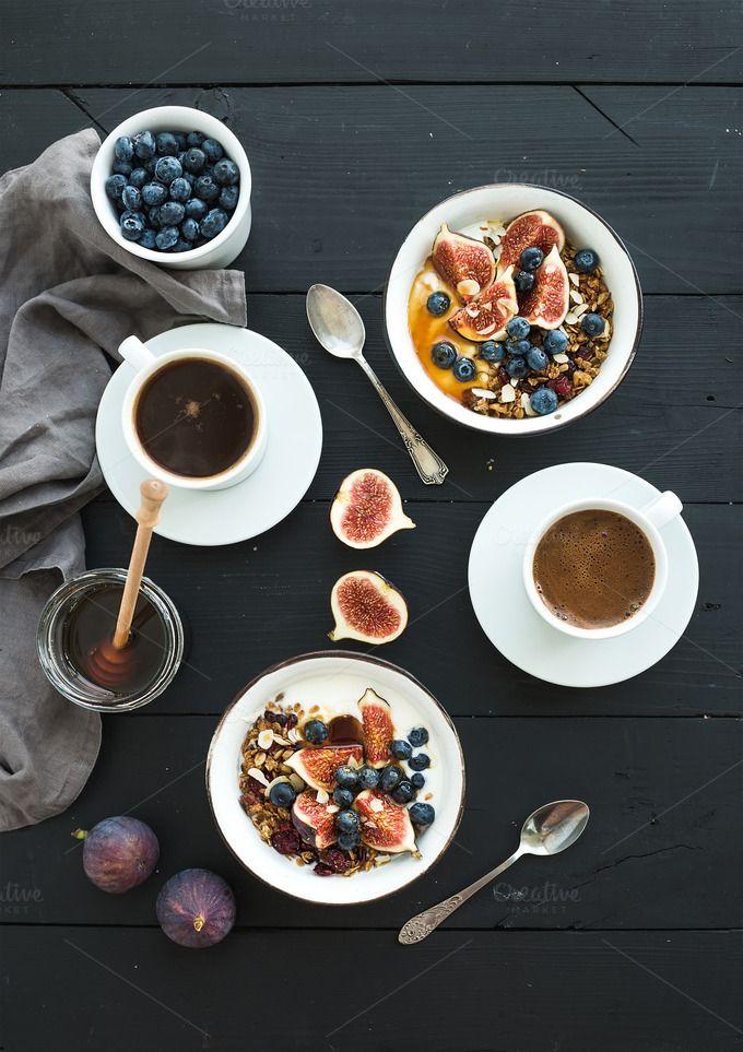 Healthy breakfast set by Foxys on @creativemarket
