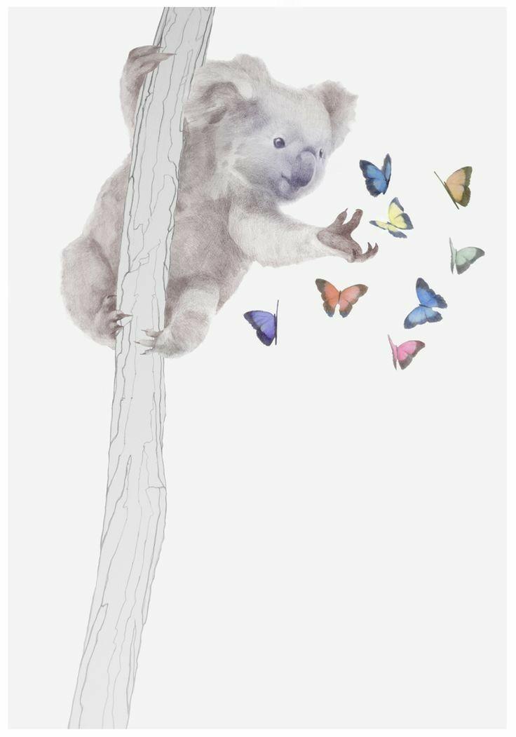 Pin By Alicja Nowak On Tattoos Koala Tattoo Koala Drawing Koala Illustration