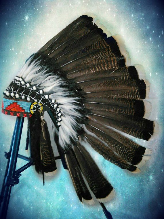 Native American Headdress Chief Indian Hat by TheLandOfCockaigne