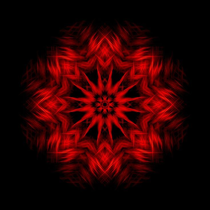 Buy Forest Fire - 40 x 40 inches Mandala Red Geometric Abstract CHROMOLUXE EDITION, Alternative Processes by Lynne Douglas on Artfinder. Discover thousands of other original paintings, prints, sculptures and photography from independent artists.