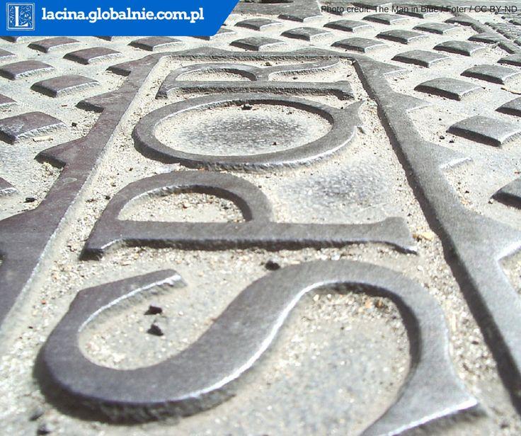 Do dziś w Rzymie na każdym kroku można napotkać symbol SPQR - nawet na studzienkach ściekowych. #spqr #rzym #roma #łacina #lacina #kanał #podróże #zwiedzanie #spacery #rome